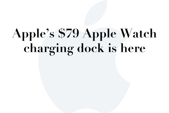 apple watch carging dock