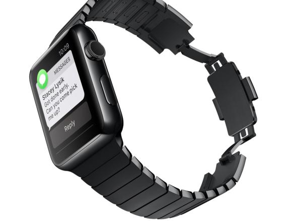 apple watch space black link bracelet