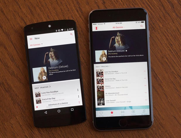 applemusic android iphone compare