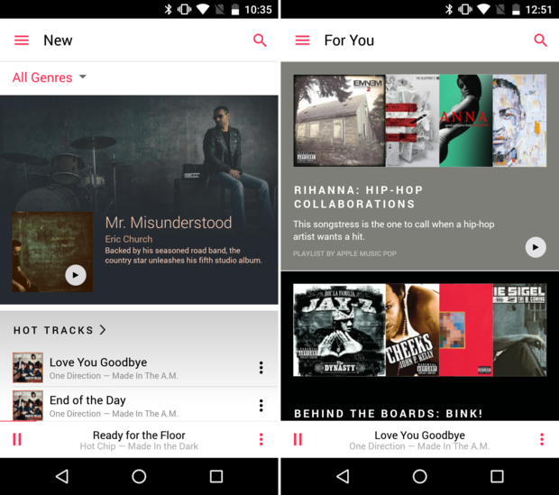 Apple Music feels at home on Android, but it's missing a few