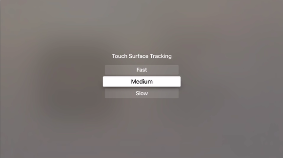 appletv settings trackpad speed