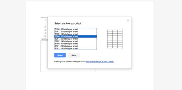 avery label merge