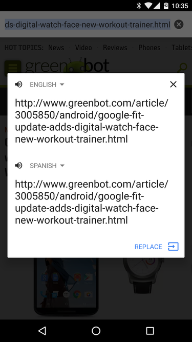 chrome url translate