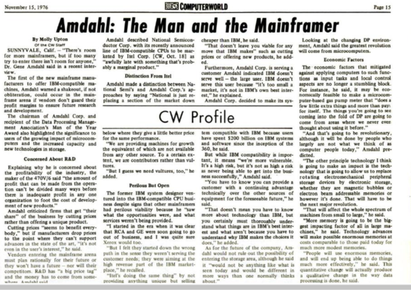 Gene Amdahl, IBM mainframe architect then IBM competitor, has died