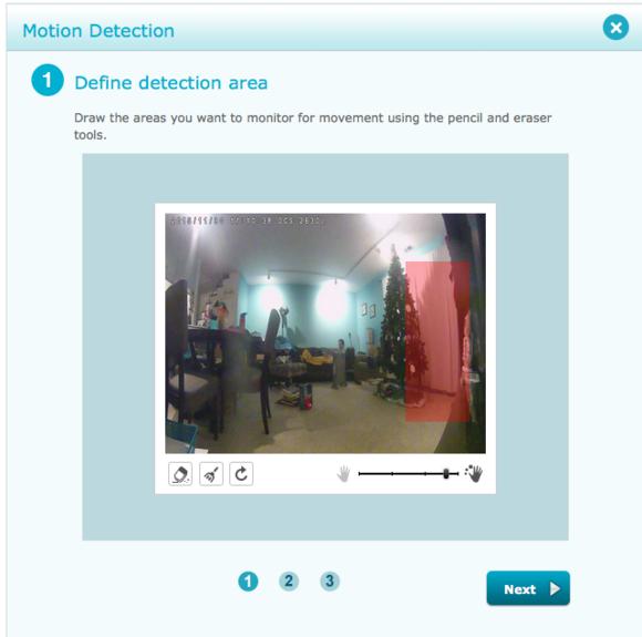 d link camer motion detection