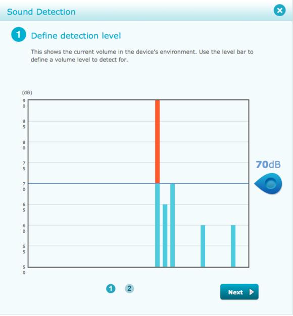 d link camera sound detection