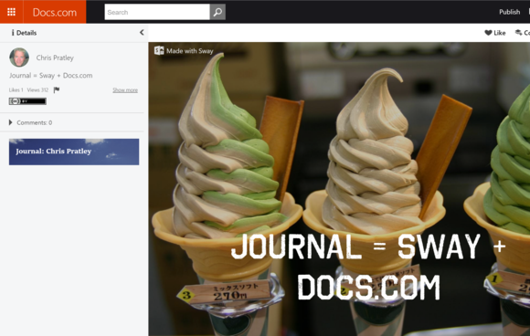 docs.com journal Sway