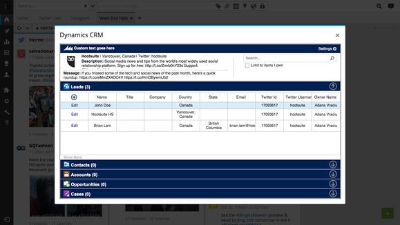 Dynamics CRM Online Hootsuite integration