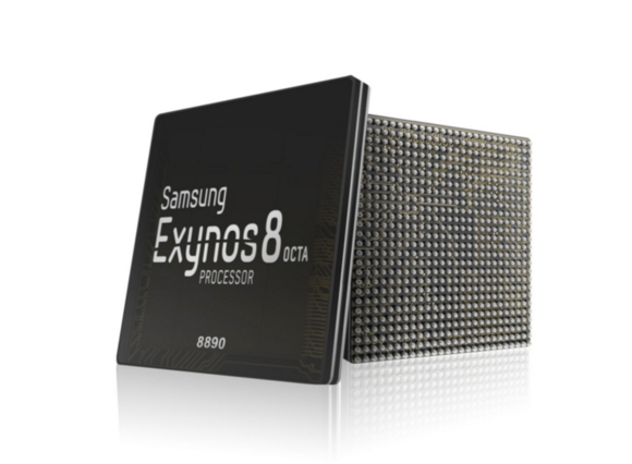 The Exynos 8 processor from Samsung.