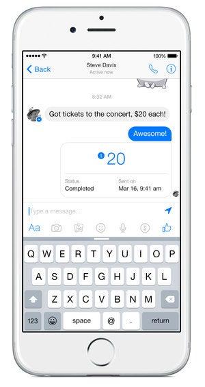 facebook messenger payment