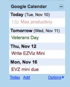google calendar gadget