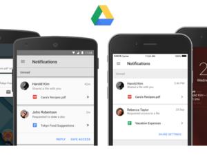 google drive notifications
