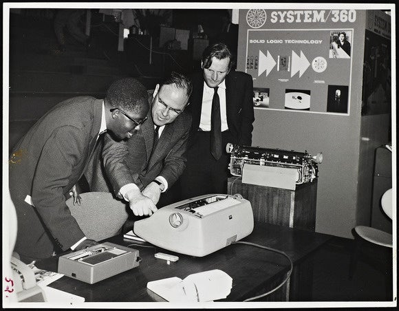 ibm system 360 exhibit in nairobi 1965
