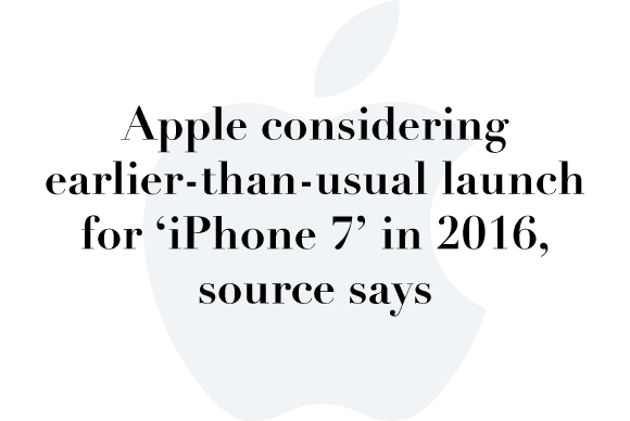 iphone 7 launch rumor