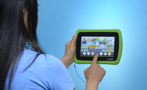 kids epic tablet in use