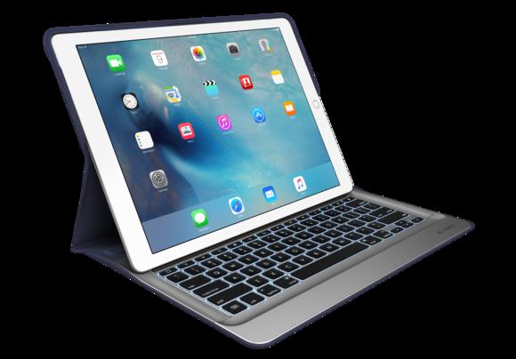 logi create keyboard case blue