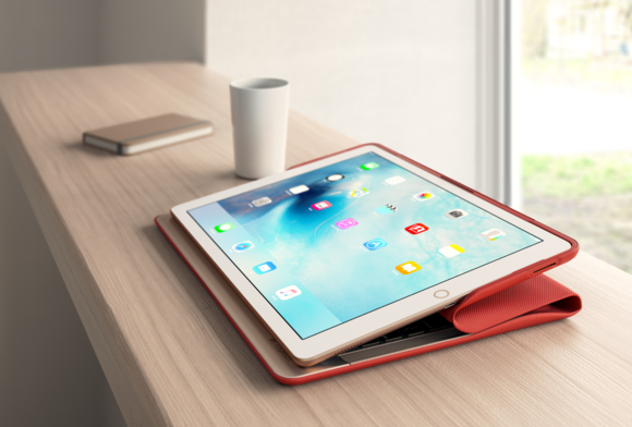 logi create keyboard case red