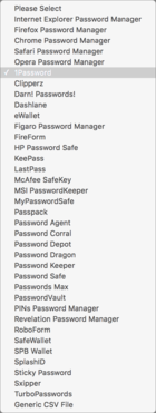 mac911 lastpass import options
