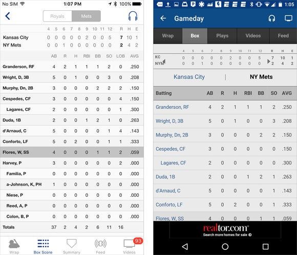 mlb side by side