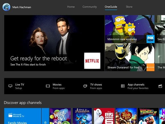 Microsoft New Xbox One Experience NXOE OneGuide