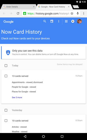 now card history
