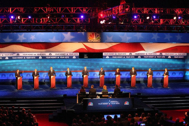 Republican candidates on debate stage