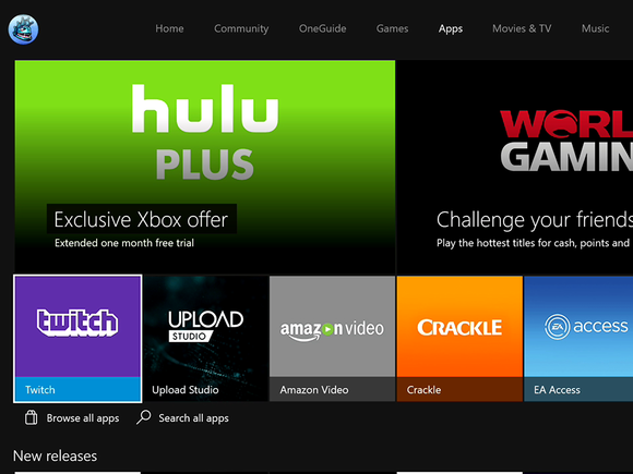 Microsoft New Xbox One Experience NXOE apps