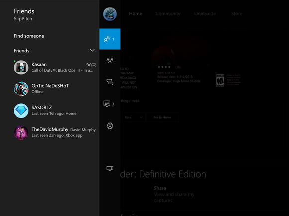 Microsoft New Xbox One Experience NXOE Friends