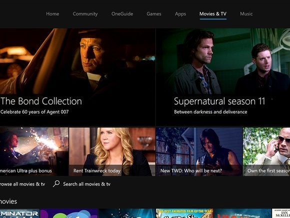 Microsoft New Xbox One Experience NXOE Movies