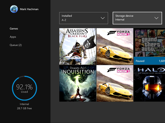 Microsoft New Xbox One Experience NXOE My Games