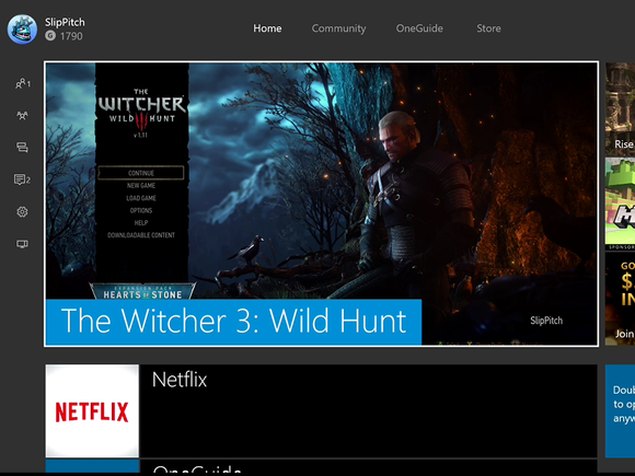 Microsoft NXOE New Xbox One Experience home