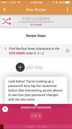 password chef steps