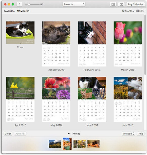How To Create A Custom Calendar In Photos For Mac Macworld