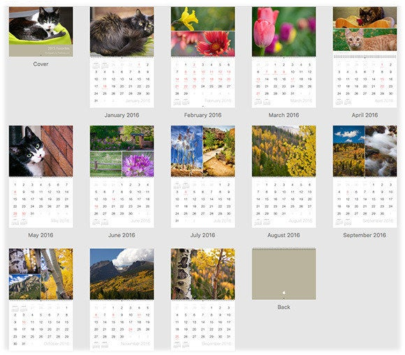 Calendar Design Mac : How to create a custom calendar in photos for mac macworld