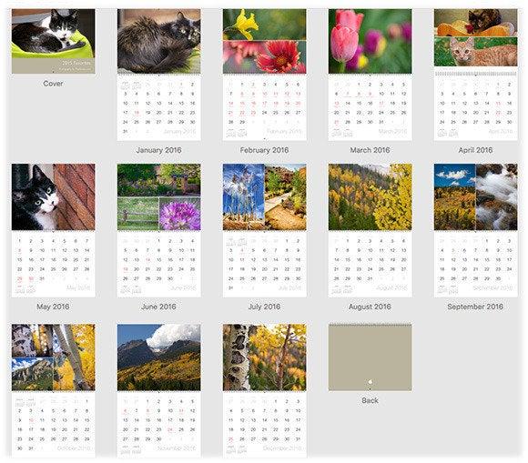 Calendar Design Software : How to create a custom calendar in photos for mac macworld