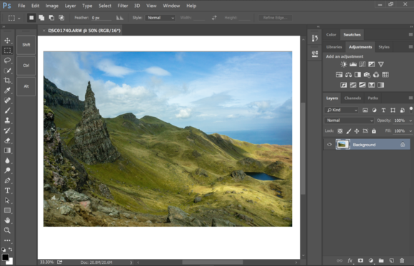 photoshop update touch interface