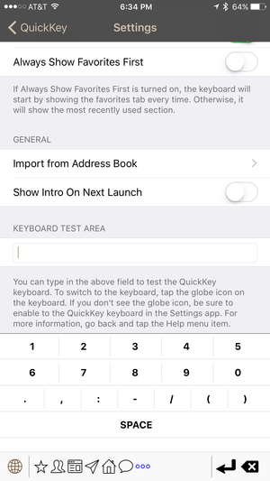 quickkey special characters