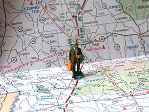 road map travel salesman