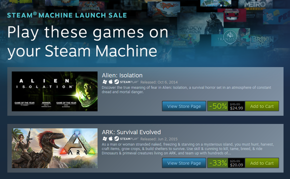 Steam Machine Launch Sale