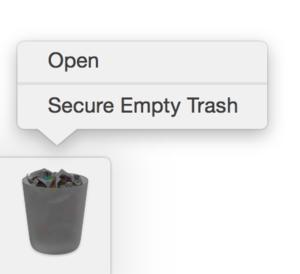 secure empty trash yosemite