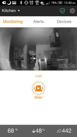 Sentri home monitor