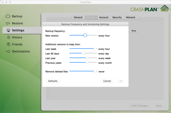 switchingbackups crashplan settings