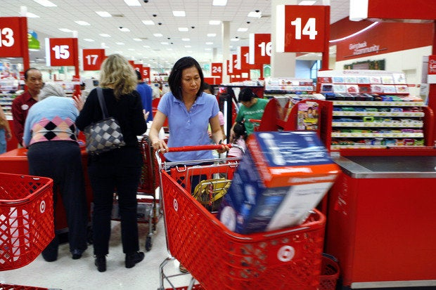 target checkout lines