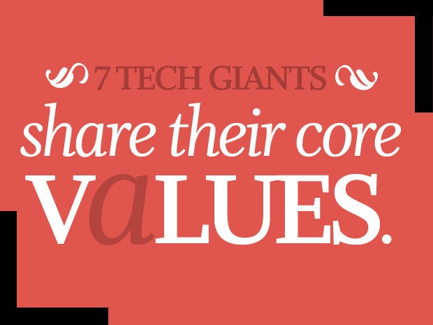 tech giants core values