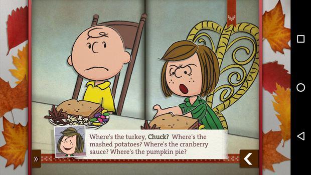 thanksgiving dinner charliebrown