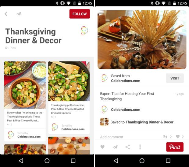thanksgiving dinner pinterest