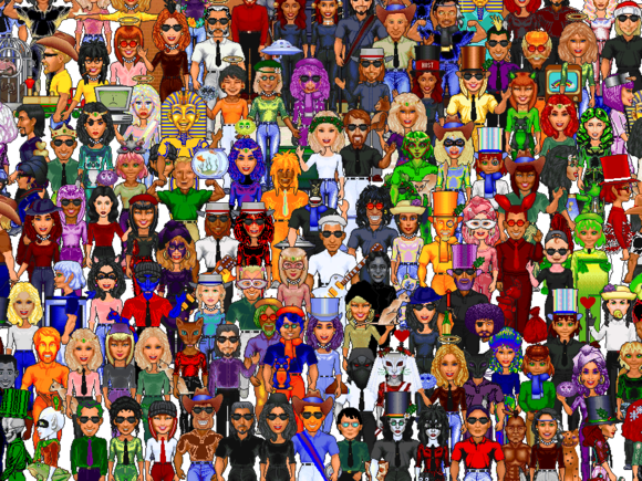 this old tech worldsaway mosaic of avatars