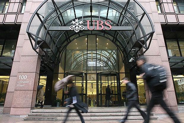 ubs bank england