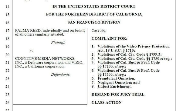 Vizio lawsuit