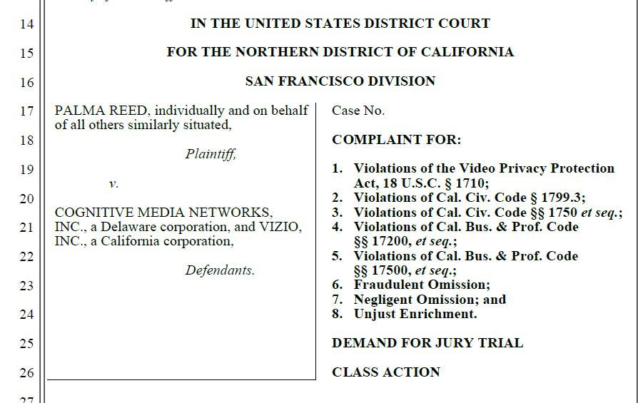 What Is A Class Action Lawsuit >> Vizio Slapped With Class Action Lawsuits Over Alleged Smart